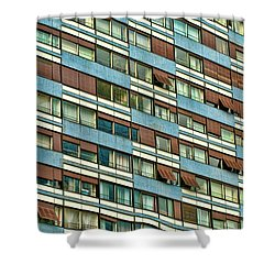 Shower Curtain featuring the photograph Apartment Windows by Kim Wilson