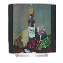 Aperitif And Appetizer Ingredients Shower Curtain