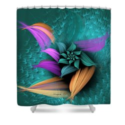 Apo Flower Shower Curtain