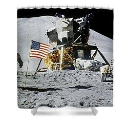 Apollo 15: Jim Irwin, 1971 Shower Curtain by Granger