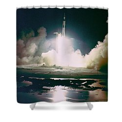 Apollo 17 Night Launch Shower Curtain