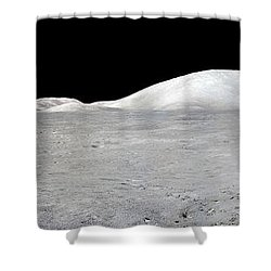 Apollo 17 Panorama Shower Curtain by Stocktrek Images