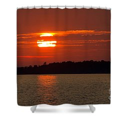 Apostle Island Sunset Shower Curtain