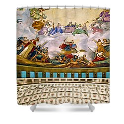 Shower Curtain featuring the photograph Apotheosis Of Washington by Mitch Cat