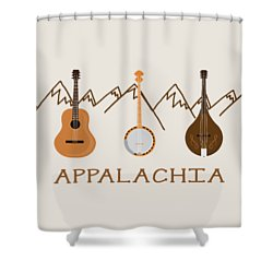 Shower Curtain featuring the digital art Appalachia Mountain Music by Heather Applegate