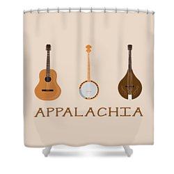 Shower Curtain featuring the digital art Appalachia Music by Heather Applegate