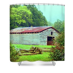 Appalachian Livestock Barn Shower Curtain by Desiree Paquette