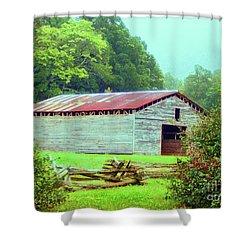 Appalachian Livestock Barn Shower Curtain