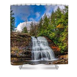 Appalachian Mountain Waterfall Shower Curtain