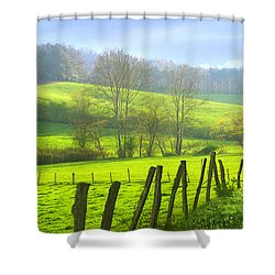 Appalachian Spring Morning Shower Curtain by Francesa Miller