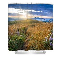 Appalachian Sunrise Shower Curtain