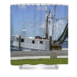 Appalachicola Shrimp Boat Shower Curtain by Laurie Perry