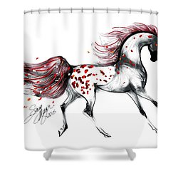 Appaloosa Rose Petals Horse Shower Curtain