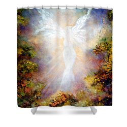 Shower Curtain featuring the painting Apparition II by Marina Petro