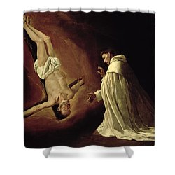 Appearance Of Saint Peter To Saint Peter Nolasco Shower Curtain by Francisco de Zurbaran