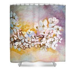 Apple Blooms Shower Curtain