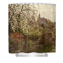 Apple Blossom Shower Curtain by Alfred Muhlig