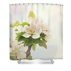Apple Blossom Retro Style Processing Shower Curtain