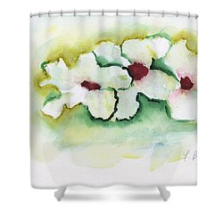 Shower Curtain featuring the painting Apple Blossoms by Frank Bright
