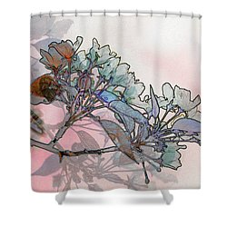 Shower Curtain featuring the digital art Apple Blossoms by Stuart Turnbull