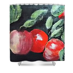 Apple Bunch Shower Curtain