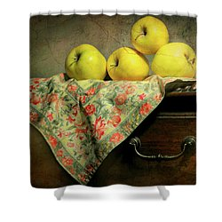 Shower Curtain featuring the photograph Apple Cloth by Diana Angstadt