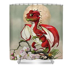 Shower Curtain featuring the digital art Apple Dragon by Stanley Morrison