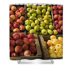 Apple Harvest Shower Curtain by Garry Gay