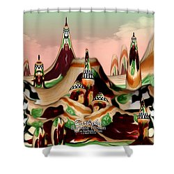Shower Curtain featuring the photograph Apple Land Countryside by Barbara Tristan