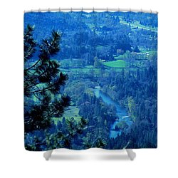 Shower Curtain featuring the photograph Applegate River From On Top Of Bolt Mountain by Marie Neder