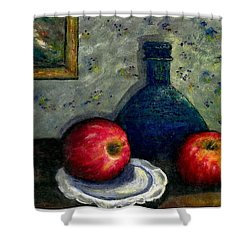 Apples And Bottles Shower Curtain