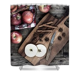 Shower Curtain featuring the photograph Apples And Cinnamon  by Kim Hojnacki