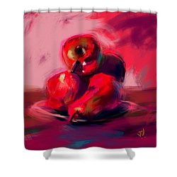 Apples And Pears Shower Curtain by Jim Vance