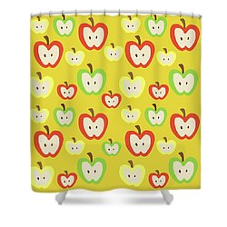 Apples Shower Curtain by Nicole Wilson