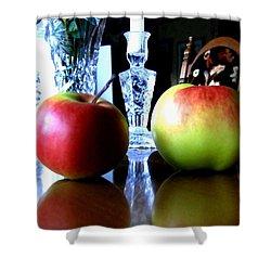 Apples Still Life Shower Curtain by Will Borden