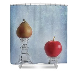 Apples To Pears Shower Curtain