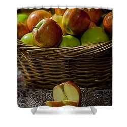 Apples To Share Shower Curtain