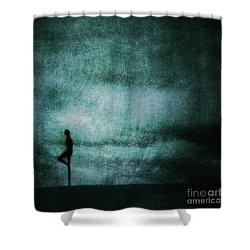 Approaching Dark Shower Curtain by Andrew Paranavitana