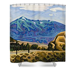 Approaching Garrison Junction Shower Curtain by Dale Beckman