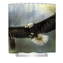 Approaching His Perch Shower Curtain