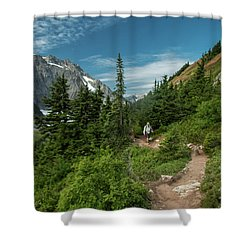 Approaching Sahale Arm Shower Curtain