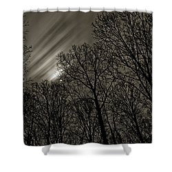Approaching Storm, Black And White Shower Curtain