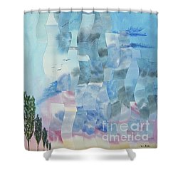Approaching Storm Shower Curtain by Jeni Bate