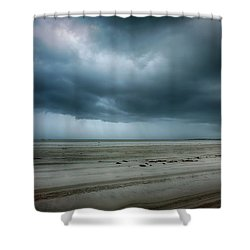 Approaching Storm On Ocracoke Outer Banks Shower Curtain