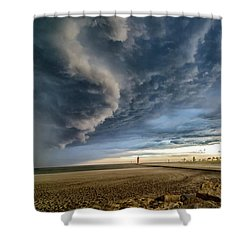 Shower Curtain featuring the photograph Approaching Storm by Steven Santamour