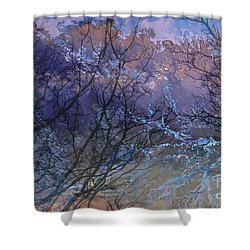 Spring Rain Shower Curtain by Ursula Freer