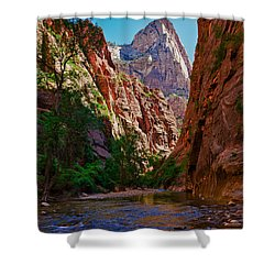 Approaching The Narrows Shower Curtain