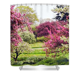 April Afterglow Shower Curtain by Jessica Jenney