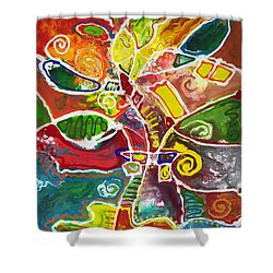 April Bouquet Shower Curtain