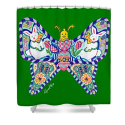April Butterfly Shower Curtain